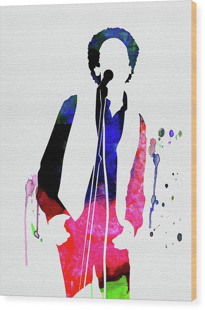 Art Garfunkel Watercolor Wood Print