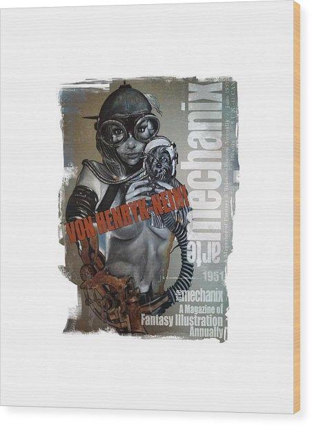arteMECHANIX 1951 VON HENRYK-NEIN GRUNGE Wood Print