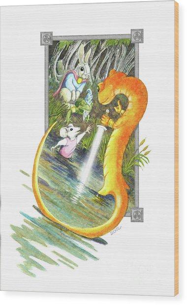 Arthur Mouse Receives Excalibur Wood Print