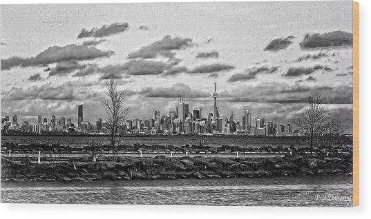 Artistic Toronto Waterfront Wood Print
