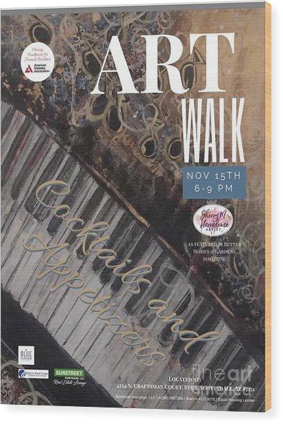 Artwalk Art Show Scottsdale  Wood Print