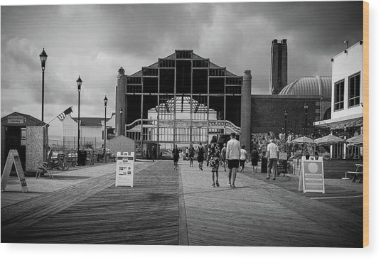 Asbury Park Boardwalk Wood Print