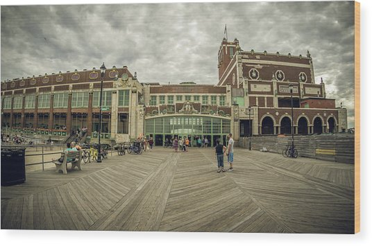 Asbury Park Convention Hall Wood Print