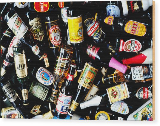Assorted International Bottled Beers Wood Print
