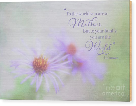Asters For Mother's Day Wood Print