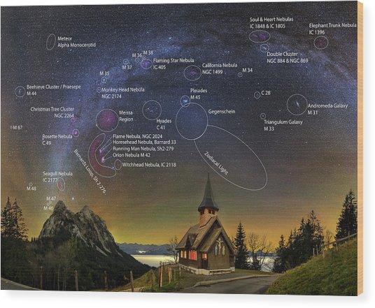 Astrophotography Winter Wonderland Wood Print