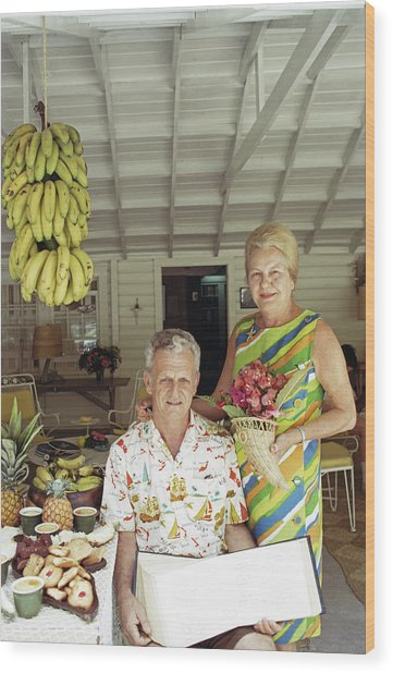 At Home In The Bahamas Wood Print by Slim Aarons