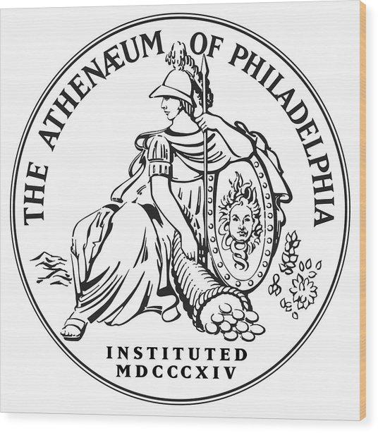 Athenaeum Of Philadelphia Logo Wood Print