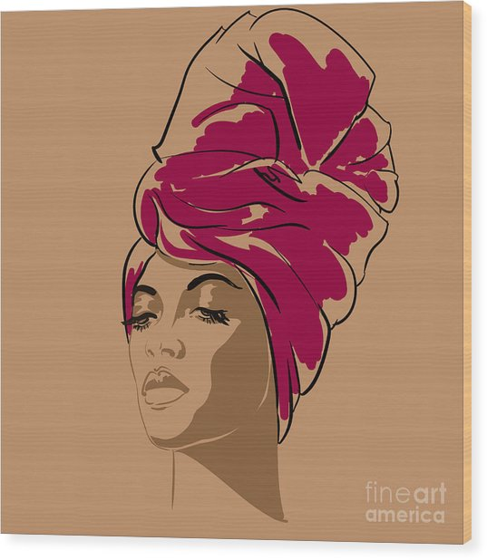 Attractive Young African-american Wood Print