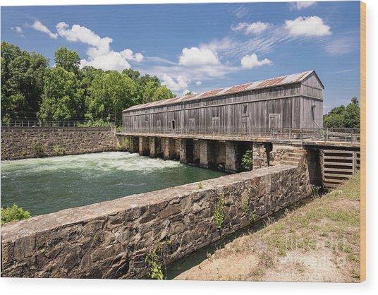 Augusta Canal Headgates - Augusta Ga Wood Print