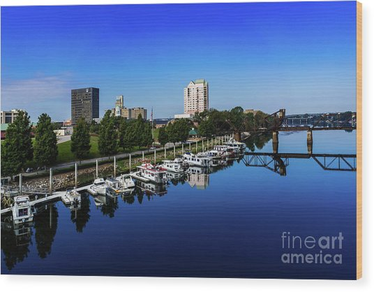 Augusta Ga Savannah River 2 Wood Print