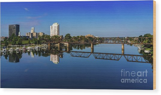 Augusta Ga Savannah River Panorama Wood Print