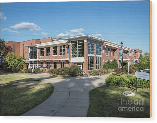 Augusta University Student Activity Center Ga Wood Print