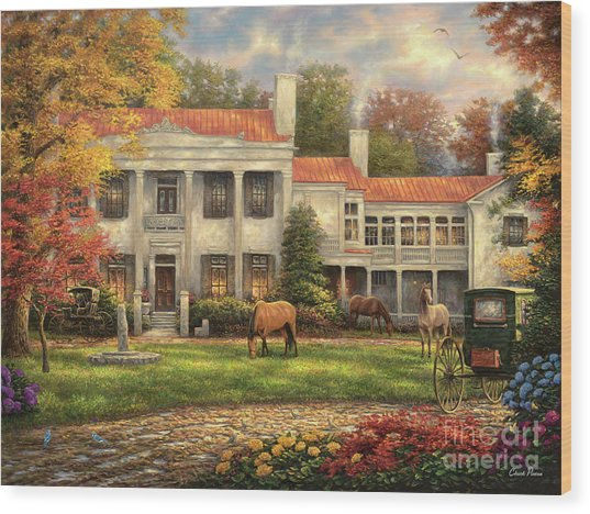 Autumn Afternoon At Belle Meade Wood Print