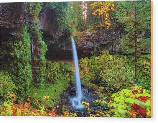 Autumn At North Falls Wood Print