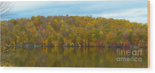 Wood Print featuring the photograph Autumn At Prettyboy by Donald C Morgan