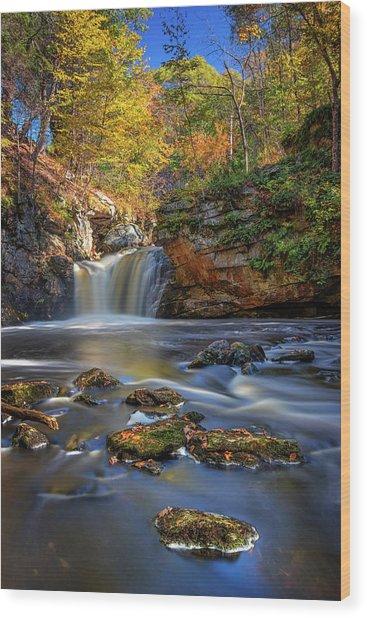 Autumn Day At Doane's Falls Wood Print
