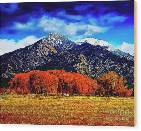 Autumn In Taos New Mexico Wood Print