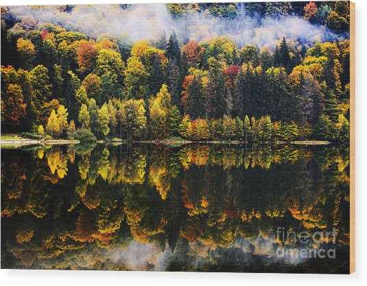 Autumn Landscape In The Mountains - St Wood Print