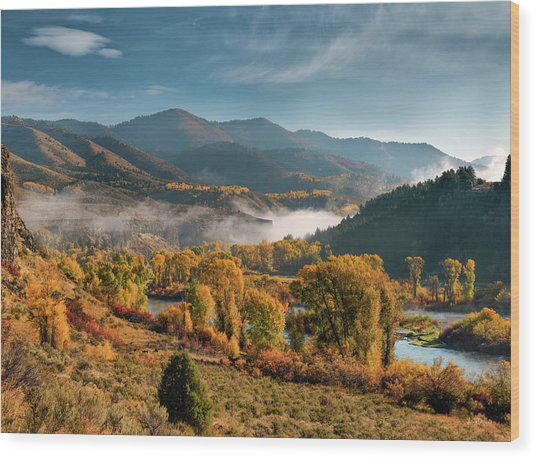 Autumn Light Along The Snake River Wood Print
