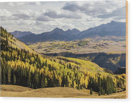Wood Print featuring the photograph Autumn Season View Of Sneffles Ten Peak by James BO Insogna