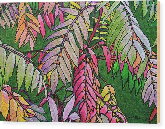 Autumn Sumac Wood Print