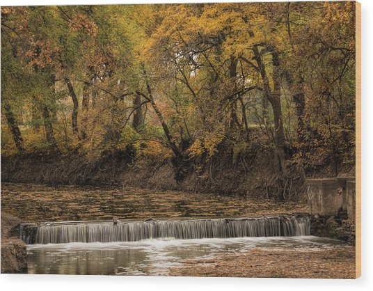 Wood Print featuring the photograph Autumn Waterfall by Scott Bean