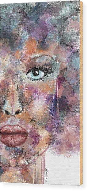 Autumn - Woman Abstract Art Wood Print