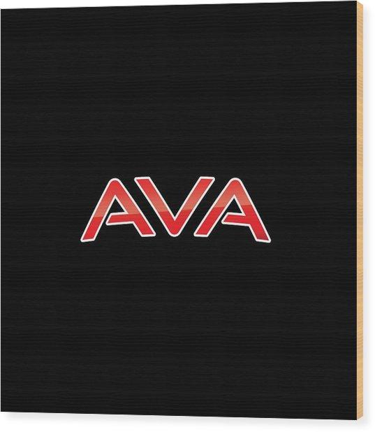 Ava Wood Print