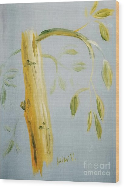 Avocado Tree  Wood Print