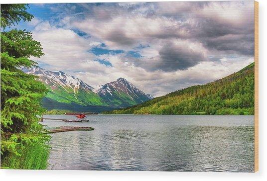 Wood Print featuring the photograph Awe The Draw Of Alaska by Dee Browning
