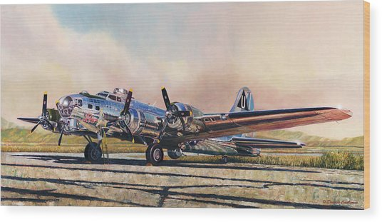 B-17g Sentimental Journey Wood Print