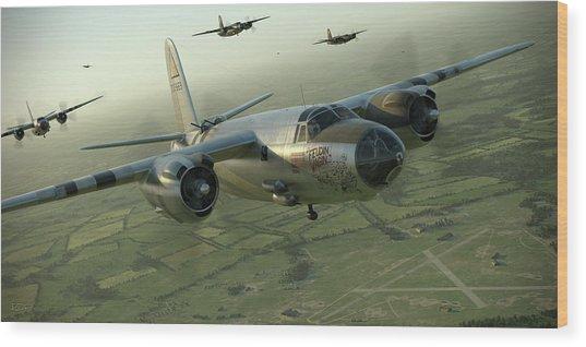 B-26 Feudin Wagin Wood Print