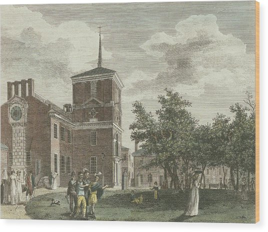 Back Of State House Wood Print