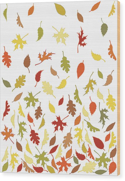 Background Pattern Of Falling Autumn Wood Print by Photos.com