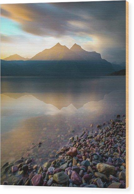 Backlit / Lake Mcdonald, Glacier National Park  Wood Print