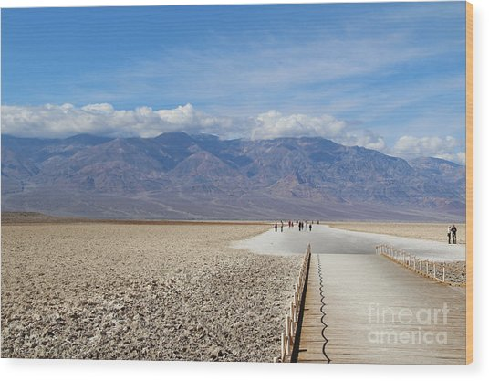 Badwater In Death Valley National Park Wood Print