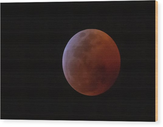 Bahamian Super Blood Wolf Moon Wood Print