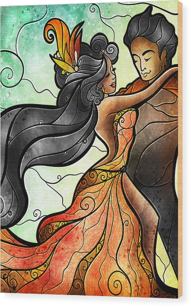 Bailar Conmigo Wood Print