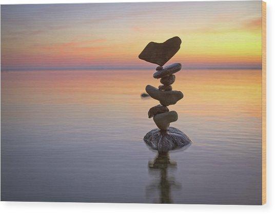 Balancing Art #1 Wood Print
