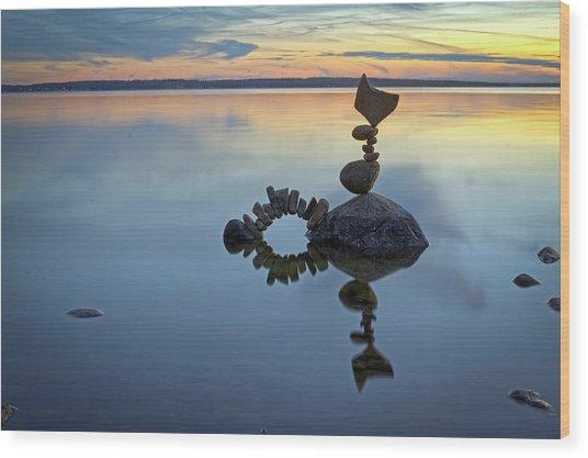 Balancing Art #10 Wood Print