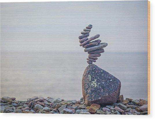 Balancing Art #11 Wood Print