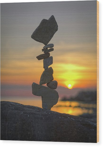 Balancing Art #12 Wood Print