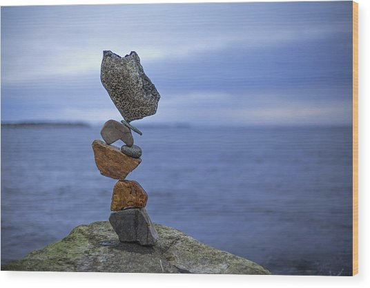 Balancing Art #13 Wood Print