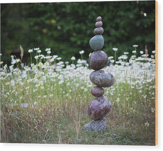 Balancing Art #15 Wood Print