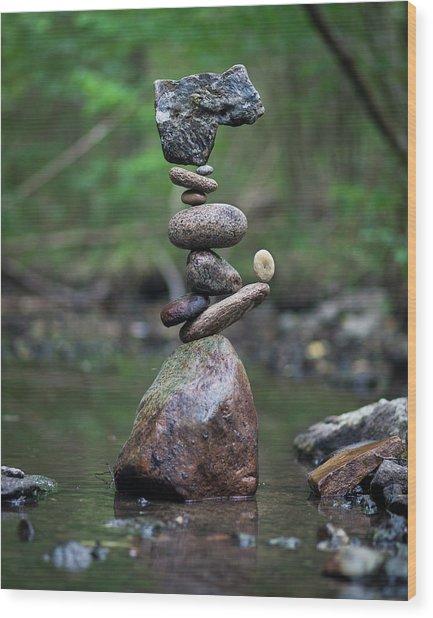 Balancing Art #18 Wood Print