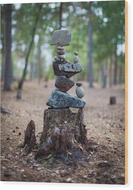 Balancing Art #19 Wood Print
