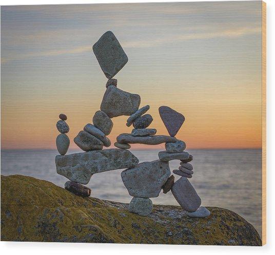 Balancing Art #2 Wood Print