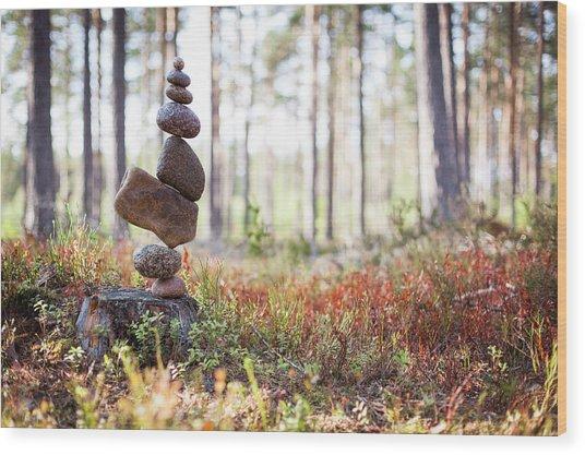 Balancing Art #20 Wood Print