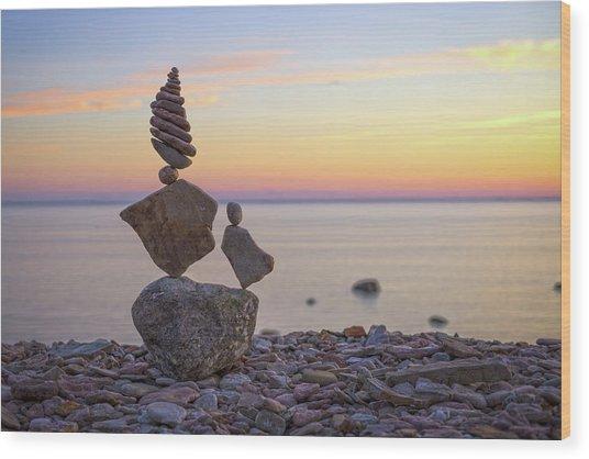 Balancing Art #21 Wood Print